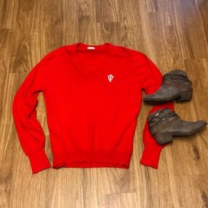 703f2e632d Sweaters - Vintage cashmere Indiana IU red sweater size large